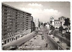 Foto storiche di Roma - Via Tuscolana - Piazza Santa Maria Ausiliatrice Anno: Primi anni '50