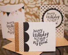 Set of three greeting cards. Birthday cards. by pumpkinpoptart