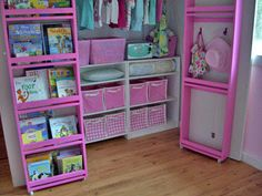 I LOVE this idea! Can't wait to try it and add some organized space to our kid's rooms.
