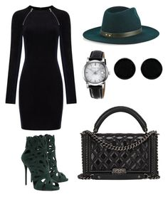 """Untitled #327"" by minnie88 ❤ liked on Polyvore featuring Giuseppe Zanotti, Janessa Leone, T By Alexander Wang, Chanel, Burberry and AeraVida"