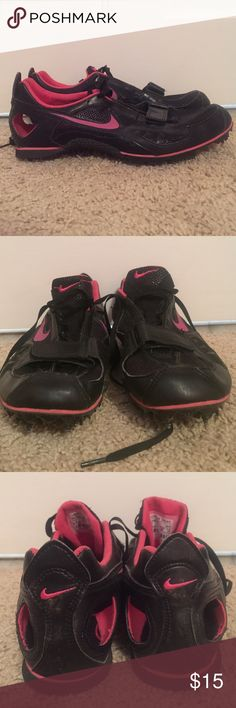 Nike Bowerman Series Track and Field Spikes Black and pink Nike Bowerman Series Track and Field spikes. Previously worn for one season of Track a few years ago. Light wear, but look very new. Come with Nike shoe bag. Nike Shoes Athletic Shoes