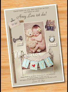 Geburtsanzeige Babykarten Danksagung Karten Geburt