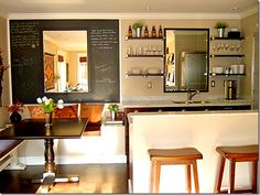 Love this kitchen - looks very much like a pub in Paris