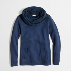 This in tan or gray--Factory funnelneck sweatshirt : sweatshirts & cardigans | J.Crew Factory (size L or XL for loose fit)