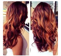 Pretty burgundy with highlights