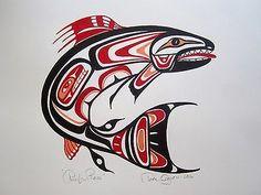 tlingit art for kids \ tlingit + tlingit art + tlingit tattoo + tlingit people + tlingit raven + tlingit art for kids + tlingit warrior + tlingit beadwork Haida Kunst, Inuit Kunst, Haida Art, Inuit Art, Native American Totem, Native American Symbols, Arte Tribal, Tribal Art, Art Haïda