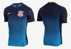 Terceira camisa do Corinthians 2016-2017 Nike Azul kit