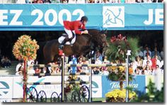 Peter Wylde of the USA and his mare Fein Cera - this combination at Jerez in 2002 took the Bronze medal and the mare was awarded most rideable horse - she was amazing!