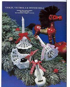 South Maid Victorian Crochet Ornaments No. 2 by grammysyarngarden