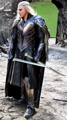 Thranduil. Amazing blue colour to this armour, beautiful engraving as well.
