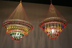 fishing float chandeliers