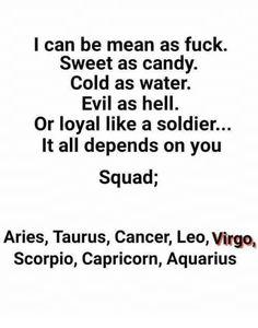 Horoscope Memes & Quotes I'm a cancer beware Zodiac Signs Chart, Scorpio Zodiac Facts, Zodiac Sign Traits, Zodiac Signs Astrology, Zodiac Signs Horoscope, Zodiac Star Signs, Zodiac Quotes, Gemini, Leo And Aquarius