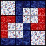 Quilts To Be Stitched - Six patch quilt patterns. Lots of free blocks with a link to a full pattern directory