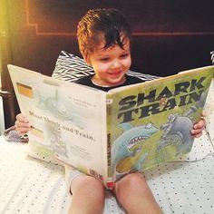 "Simon Kenton, young patron ""I like Shark Vs. I think Shark will win. Children's Choice, Who Will Win, Age 3, New York Times, Shark, Brooklyn, Train, Books, Libros"