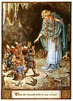 Freyja bargains with dwarves for Brisingamen