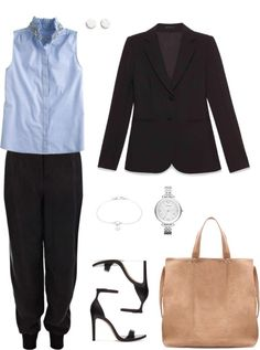 Tailored Blazer - Office - Samantha Peterson - Keaton Row  Like it for work, but not the saggy pants