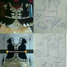 Tambour Embroidery, Moroccan Dress, Tissue Paper Flowers, Easy Sewing Patterns, Diy And Crafts, Crochet Necklace, Clothes, Dresses, Exercises