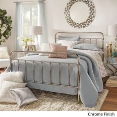 INSPIRE Q Giselle Graceful Lines Victorian Chrome King-Sized Metal Bed