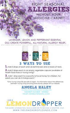 Allery Relief #YoungLiving #essentialoils #starterkit #allergies