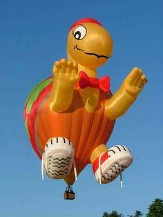 Big Balloons, The Balloon, Balloon Shapes, Air Balloon Rides, Hot Air Balloon, Air Balloon Festival, Air Ballon, Turtle Love, Creative