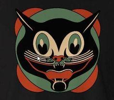 Vintage Halloween Cat Diecut Decoration