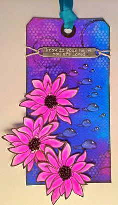 Wendy's Card Craft: Designs by Ryn - daisies and water droplets.