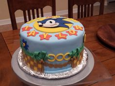- Sonic The Hedgehog Cake
