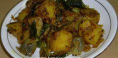 Potato and Brinjal (Egg plant) Tamarind Fry