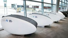 The airport announced this week the arrival of GoSleep pods, claiming to be the world's first airport to debut the chairs that converts to a private, lie-flat beds.After an initial launch phase, the chairs will be upgraded to include Internet access, will include secure storage for luggage and other valuables, and will allow customers to charge their laptops, mobile telephones, and other electronic devices.The cost of using the sleep pods is about $12 per hour. Click to read more...