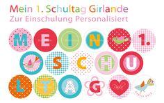 """Schulanfang """"Girlande für's Einschulungsfest"""""""