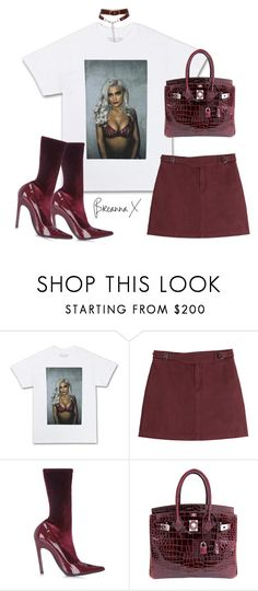 """""""Untitled #3298"""" by breannamules ❤ liked on Polyvore featuring Marc by Marc Jacobs, Balenciaga, Hermès and Alexander Wang"""