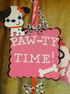 Puppy Party Door Sign on Etsy, $20.00