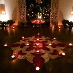 31 Ideas Party Wallpaper Colour For 2019 Rangoli Designs Flower, Rangoli Ideas, Rangoli Designs Diwali, Diwali Rangoli, Flower Rangoli, Beautiful Rangoli Designs, Flower Designs, Diwali Decorations At Home, Home Wedding Decorations