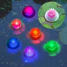 Solar Pool Lights, Floating Pool Lights, Solar Powered Lights, Floating In Water, Easter Inflatables, Bachelorette Party Decorations, Flower Lights, Easter Holidays, Easter Table