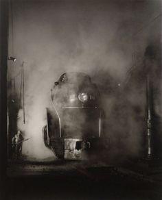 Washing the J. Class, Shaffers Crossing Yards, Roanoke, VA, Photo by O. Winston Link, 1955