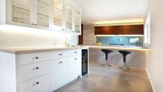 Seaside Home on ArchiPro New Kitchen, Seaside, Kitchen Design, Kitchen Cabinets, Interior Design, Modern, House, Inspiration, Home Decor