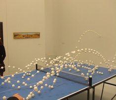 Richard Fauguet ('Sans titre (table de ping-pong)', 2000-2004) from http://lunettesrouges.blog.lemonde.fr/2010/11/17/les-dix-ans-du-prix-marcel-duchamp-dix-ans-de-talents-francais/#xtor=RSS-32280322