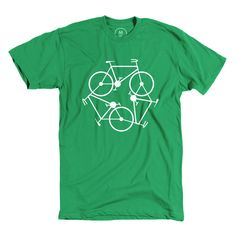 """Bike Green"" designed by Orlando Sosa. Get green, get in shape, get healthy."
