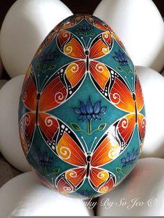 Butterflies II Ukrainian Easter Egg Pysanky By So Jeo