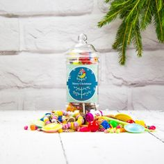 Personalised Retro Sweets - Victorian Retro Jar :: Personalised with any name and any message - Fast UK Delivery.