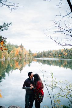 This fiance was nervous to take photos, but her partner held her closely. How cute are these two? Autumn Engagement Photos at Pink Lake, QC Fall Engagement, Engagement Session, Engagement Photos, Ottawa Valley, Pink Lake, Autumn, Couple Photos, Cute, Photography