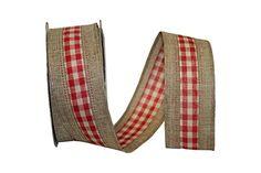 "Reliant Ribbon Linen Check We Fabric Ribbons, 1.5"" x 10 y... http://www.amazon.com/dp/B00MMP6BCM/ref=cm_sw_r_pi_dp_AjAvxb0FJCNQP"