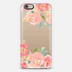 Watercolor Flowers Iphone Case - Peonies Multicolored - Classic Snap Case