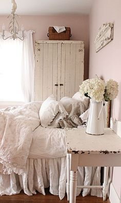 21 ideas para una habitacin shabby chic antique bedroomsshabby - Antique Bedroom Decorating Ideas