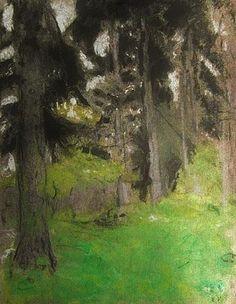 Edouard Vuillard - Spruce trees by ksrose Edouard Vuillard, Abstract Landscape, Landscape Paintings, Spruce Tree, Pierre Bonnard, Post Impressionism, Colorful Paintings, Tree Paintings, Equine Art
