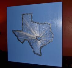 Austin, Texas string art I made for my friend.