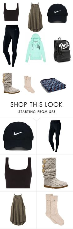 """college"" by gtippman on Polyvore featuring Nike Golf, NIKE, UGG Australia, prAna, UGG, Vera Bradley and Victoria's Secret"