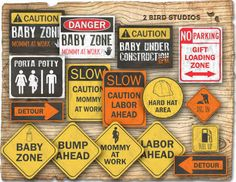 under construction baby shower decorations - Google Search