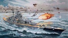 KMS Bismark under Swordfish attack