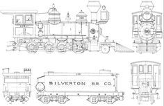 87 best railroad blueprints and drawings images on pinterest model steam train blueprints malvernweather Images